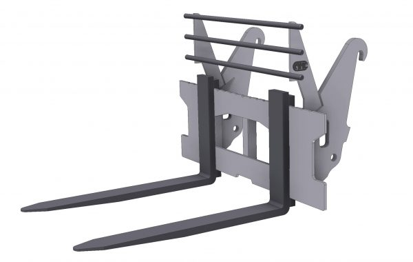 Pallet forks for backhoe loaders