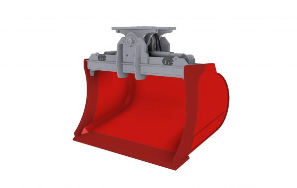 High capacity tilting bucket